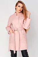 Шикарное женское демисезонное пальто Бельгия розовое