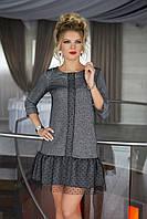 Нарядное трикотажное Платье в светло-сером цвете