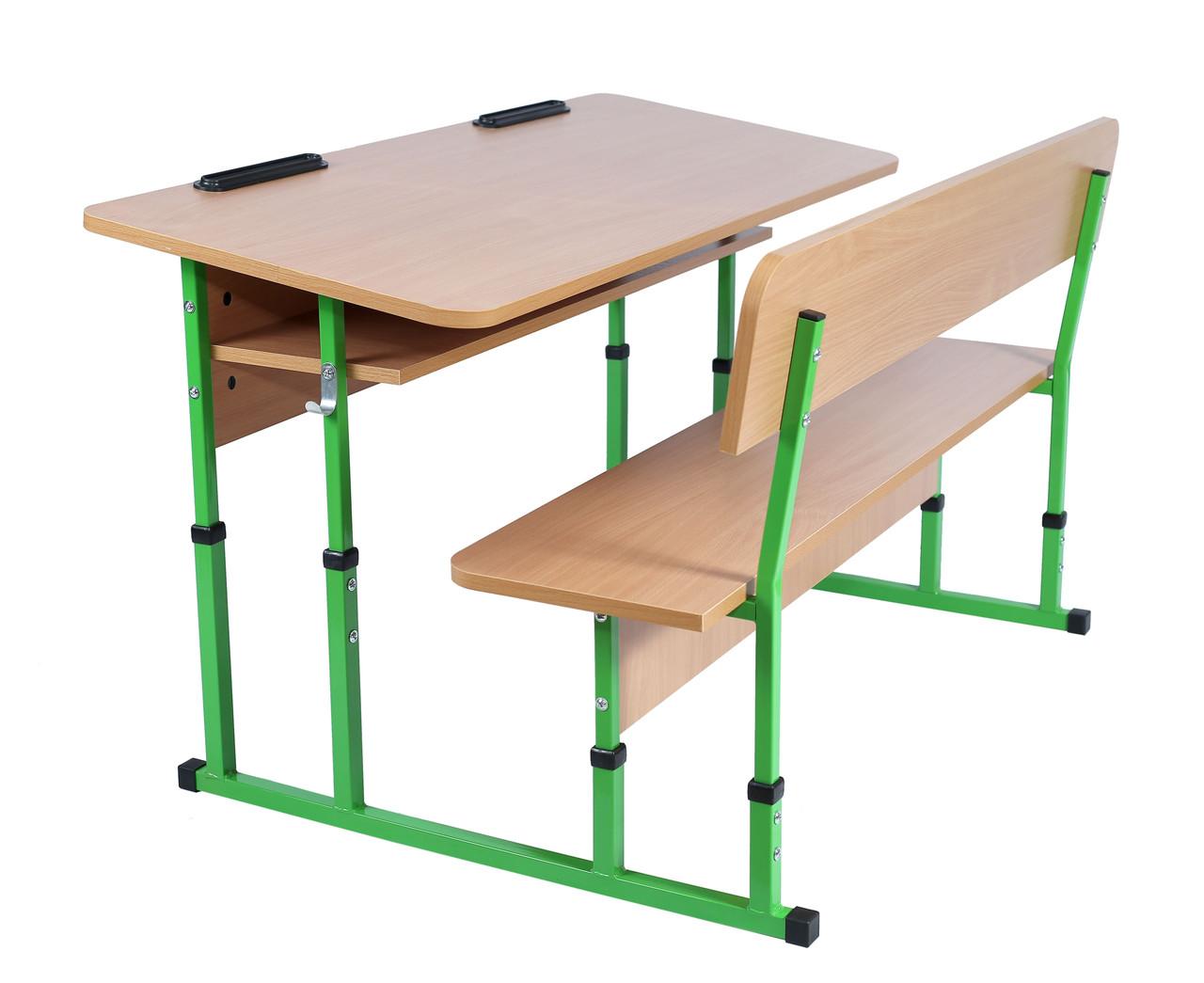 Комплект школьный 2-местный с лавкой (рост №4-5)