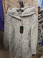 Пальто весеннее с капюшоном (42-48)