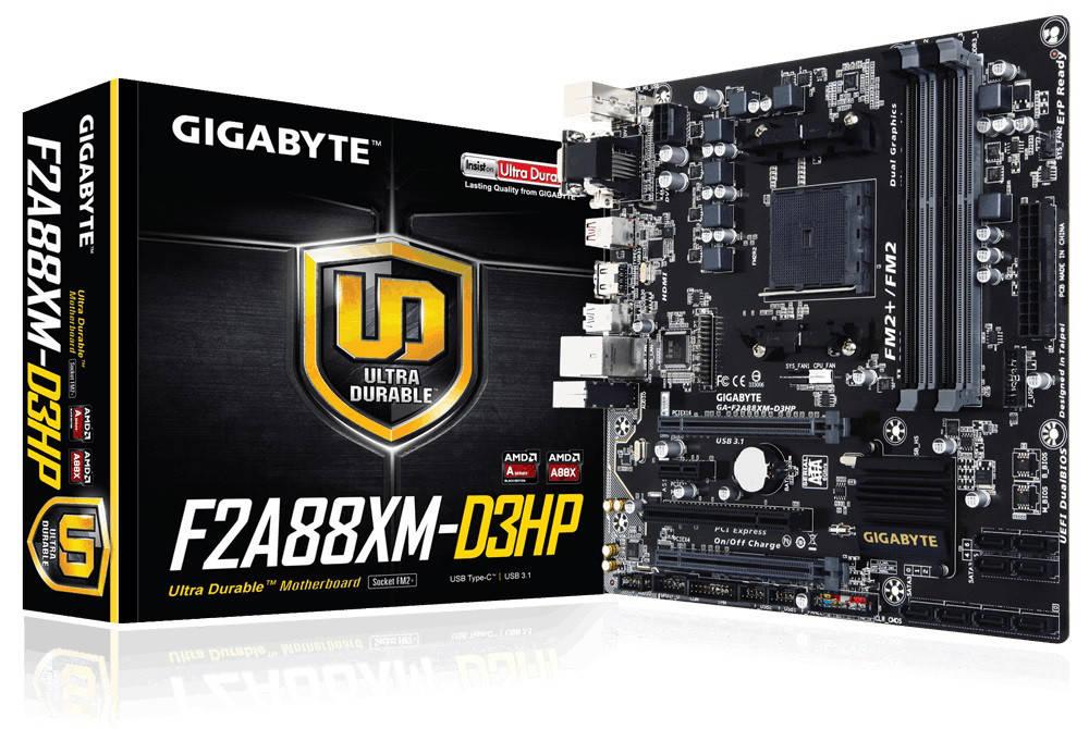 """Материнская плата Gigabyte GA-F2A88XM-D3HP FM2+ DDR3 """"Over-Stock"""""""
