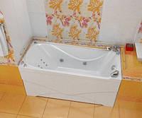 Гидромассажная ванна с врезным смесителем Triton Вики, 1600х750х720 мм