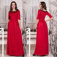 """Длинное красное красивое платье """"Анжелика"""", фото 1"""