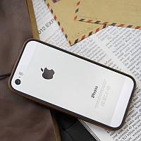 Бампер JCPAL Anti-shock Bumper 3 in 1 для Apple iPhone 5, 5s, SE (Set-Gold)