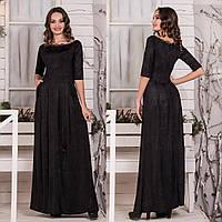 """Черное вечернее длинное платье """"Анжелика"""", фото 1"""