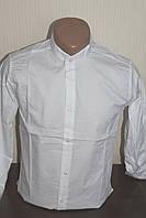Мужская однотонная рубашка Sayfa, стойка