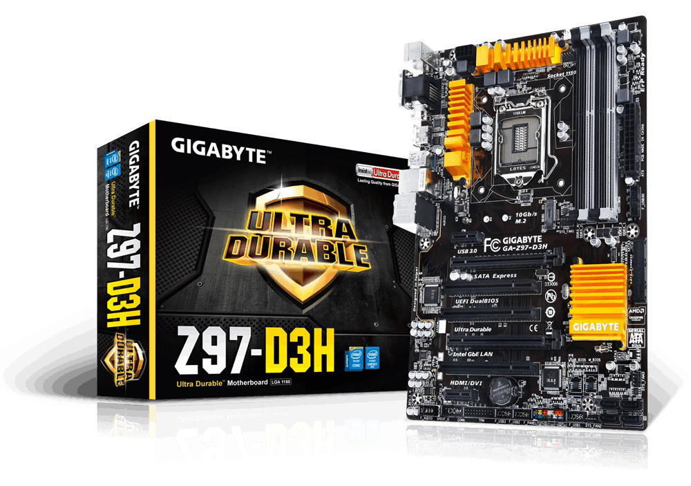 "Материнская плата Gigabyte GA-Z97-D3H s.1150 DDR3 ""Over-Stock"""