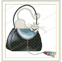 """Набор для вышивания крестиком """"Кошка в сумке"""""""