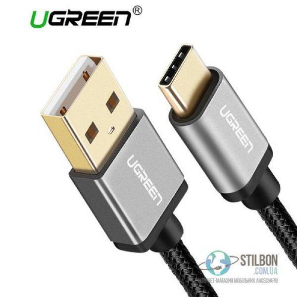 UGREEN USB Type C to USB 2.0 дата-кабель 1м 2.4A Fast Charger, ЦВЕТ черный