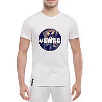 Футболка с печатью принт Лев в стиле SWAG, фото 1
