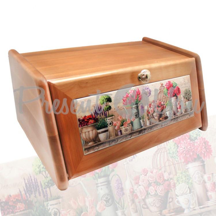 Хлебница из дерева «Прованс» медовый, 40х27х18, 15х30 см (263-0002M)