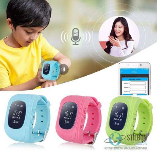 Детские смарт-часы Q50 GPS tracking + SOS, ЦВЕТ голубой