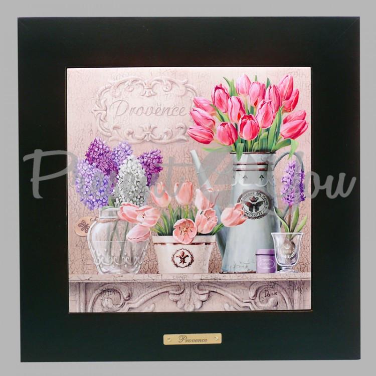 Панно настенное «Прованс. Тюльпаны», 20х20, 28,5х28,5 см. (262-5020B)