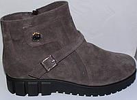 Замшевые женские ботинки большого размера зима, замшевая обувь больших размеров от производителя мод ВБ520зима