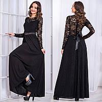 """Черное вечернее длинное платье """"Реноме"""""""