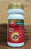 Трифала Triphala Tablets 60 Dabur - общая чистка организма, ЖКТ, зрение, иммунитет, омоложение, Индия, фото 1