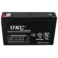 Аккумулятор BATTERY 6V 7A UKC Акция!