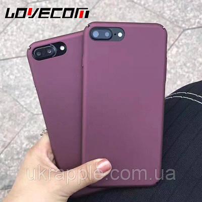 Чехол накладка на iPhone 7/8 задняя крышка цвет красного вина