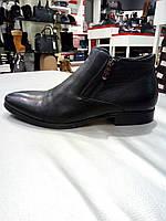 Ботинки зимние мужские из натуральной кожи с натуральным мехом 39