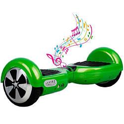 Гироборд SmartWay U3 PRO App(зеленый) + С функцией самобалансировки+музика