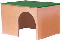 013 Дом для кролика деревяный 28х21х17