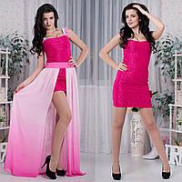 97781c4f762 Красивое выпускное платье-трансформер малиновое