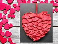 Валентинка сердечко из липестков роз