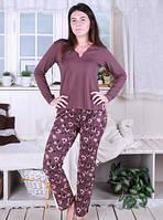 Пижама с брюками домашний комплект хлопок женская кофта длинный рукав