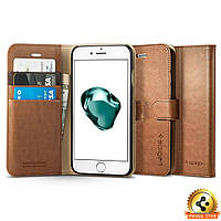 Книжка-Чехол Spigen для iPhone 7Plus Wallet S, Brown, фото 1