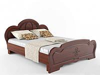"""""""Кароліна"""" Ліжко з ДСП/МДФ в спальню 160 (вишня) Сокме"""