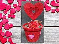Валентинка Декоративный вазончик к Дню Святого Валентина