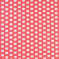 """Коттон Хлопковая ткань """"Darling"""" коралловый в белые яблоки, ш.150 итальянская ткань"""