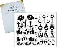Deep design трафарет для ногтей 268 (атрибут для хэллоуина)