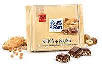 "Шоколад Ритер Спорт""Ritter Sport"" Keks+Nuss с фундуком и печеньем 100г"