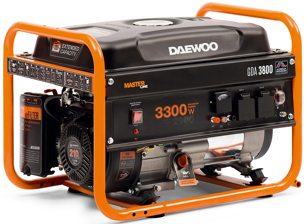 Бензогенератор Daewoo GDA 3800 (3,3 кВт)
