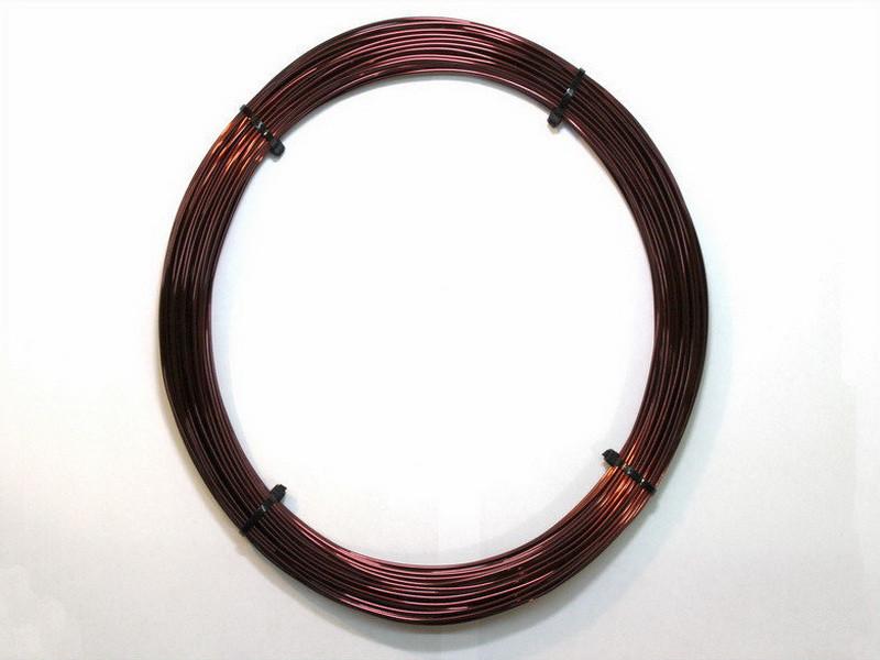 Обмоточный эмальпровод алюминиевый диаметром 2,5 мм, весом 0,25 кг