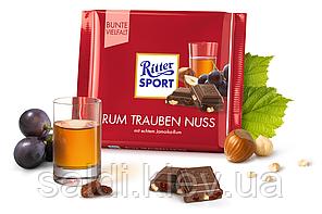 Шоколад Ритер Спорт Ritter Sport Rum Trauben Nuss Ром с изюмом и орехом 100г