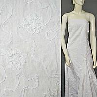 Лен льняная ткань с отделкой