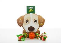 Бакстер Тойс Игрушка для собак шарик с канатом B1