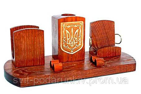 """Подарок мужчине, настольный набор с гербом Украины """"Тризуб"""", фото 2"""