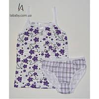 Детский набор нижнего белья для девочек с топом Цветной