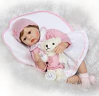 Кукла реборн 55 см девочка Настенька