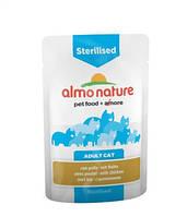 Альмо Натурэ консерва для стерилизованых кошек Цыпленок  70 г