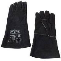Перчатки замшевые (краги) красные  Werk WE2127