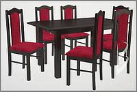 Дерев'яний набір 6 м'яких крісел зі столом