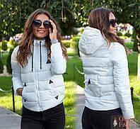 Женская короткая демисезонная куртка с карманом на спине. Ткань: плащевка. Размер: 42,44,46,48.