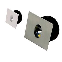 Лестничный светильник светодиодный 3W матовый хром Zumrut HOROZ