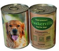 Баскервиль консервы для собак Кролик с вермишелью  400 г