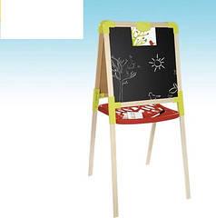 Детский мольберт двухсторонний деревянный магнитный Smoby 28015