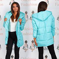 Женская удлиненная демисезонная куртка